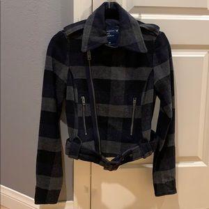 American Eagle wool motorcycle jacket coat sz. XS